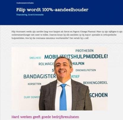 Filip wordt 100%-aandeelhouder